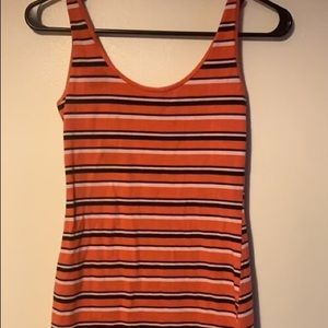 Orange stripped forever 21 summer dress (fitted)